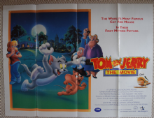 Tom and Jerry, UK Quad Film Poster, '92